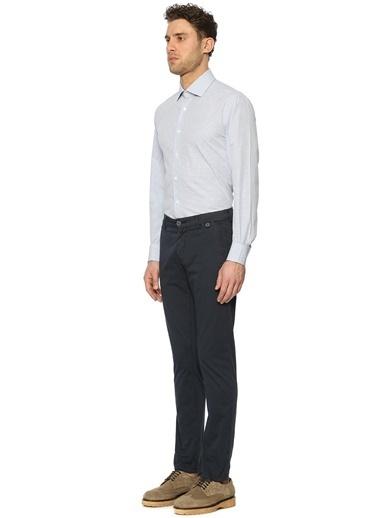 Mikro Desenli Uzun Kollu Gömlek-Corneliani